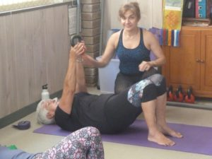 image of woman stretching 3